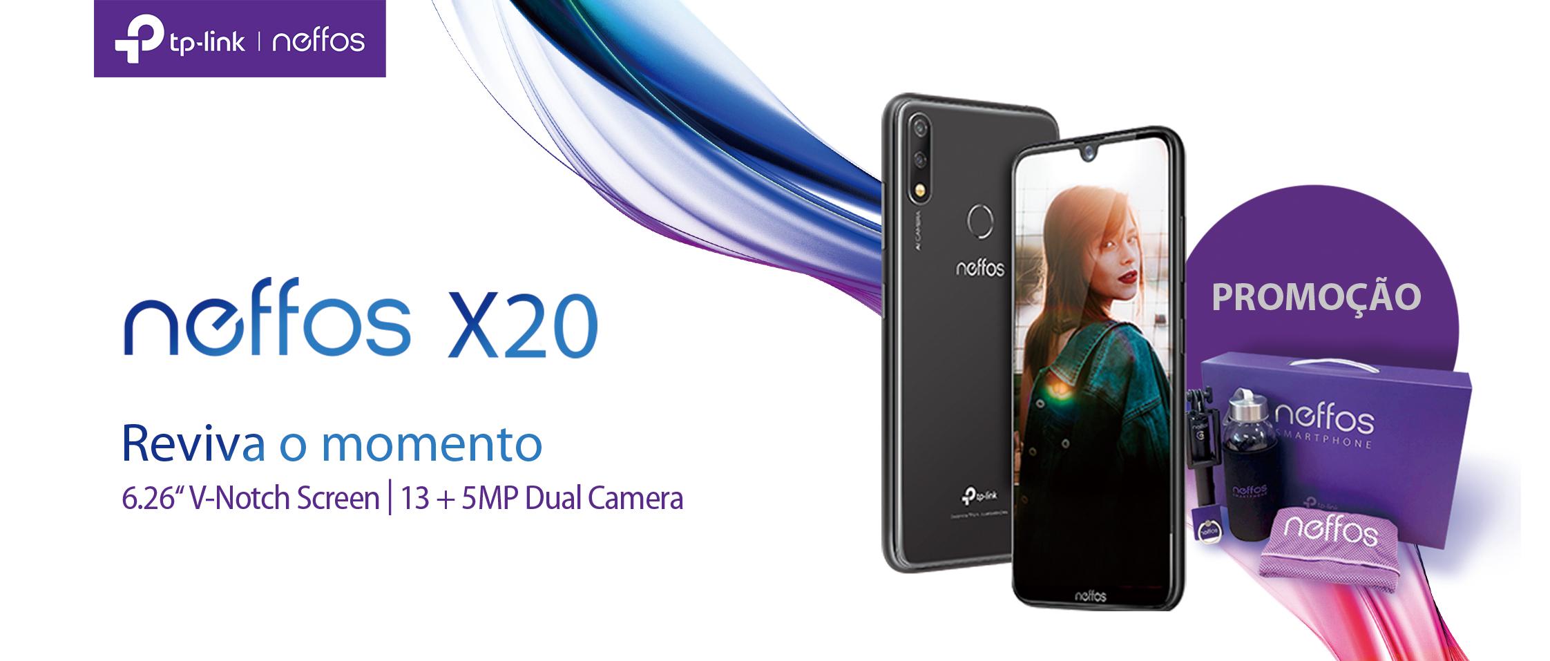 Neffos apresenta o X20 – Design apelativo, câmara dual AI, ecrã generoso e excelente autonomia