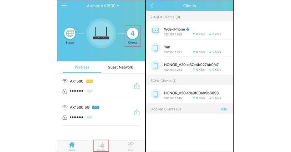 Como utilizar a app Tether para gerir dispositivos na rede