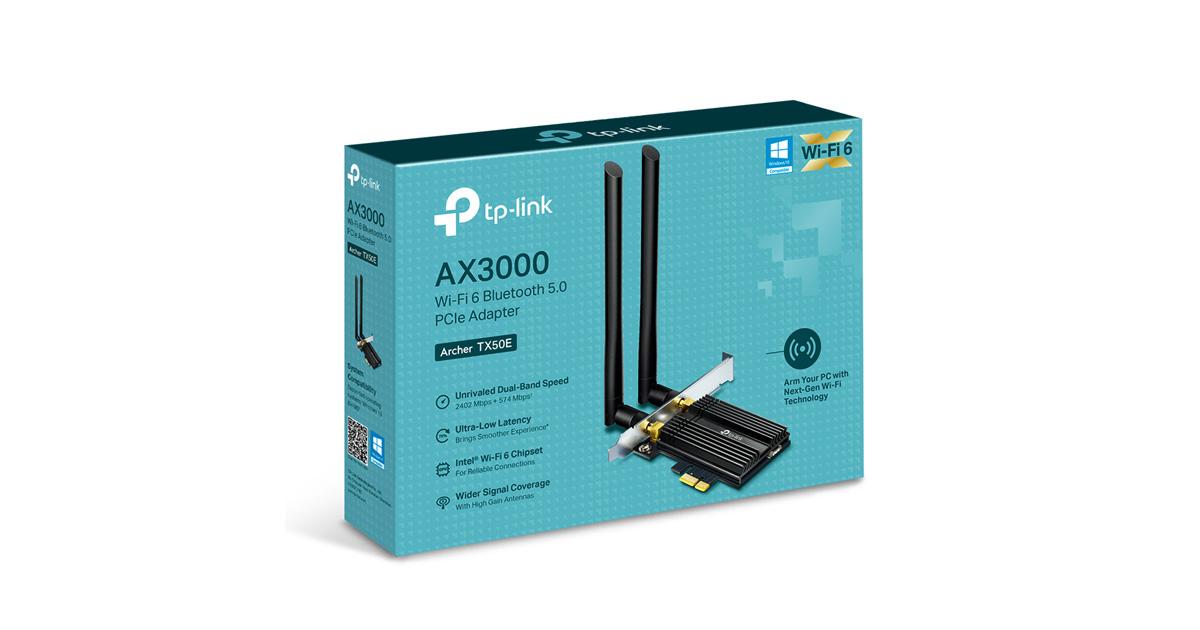 TP-Link apresenta o novo adaptador Archer TX50E, com Wi-Fi 6 e Bluetooth 5.0 para responder a todas as necessidades