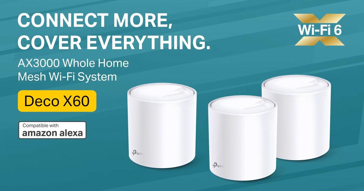 Deco X60 combina WiFi6 com tecnologia Mesh para garantir cobertura e velocidade em todo o lado