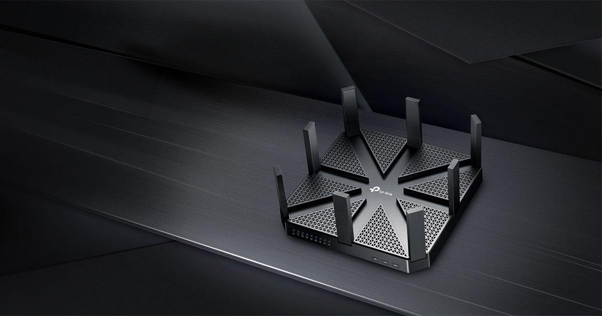 TP-Link Router Gigabit MU-MIMO Tri-Band sem fios AC5400