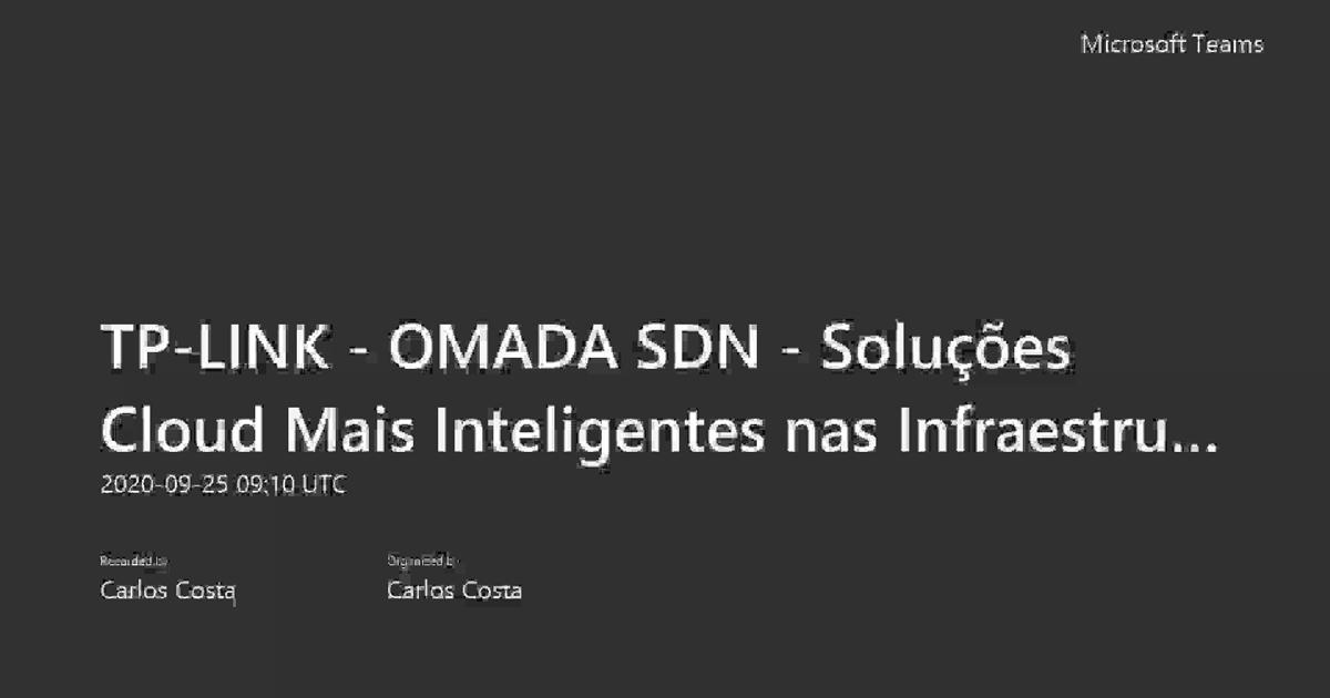 Webinar: soluções Omada SDN