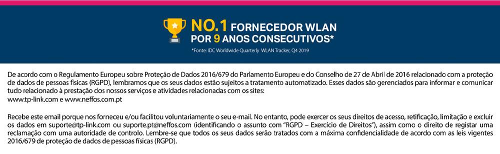 NO.1 FORNECEDOR WLAN POR 9 ANOS CONSECUTIVOS