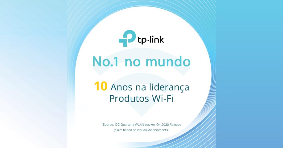 TP-Link é o fornecedor nº 1 de produtos  Wi-Fi há 10 anos