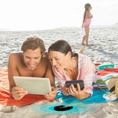 """campanha de Verão - """"Mantenha-se ligado durante as férias"""""""